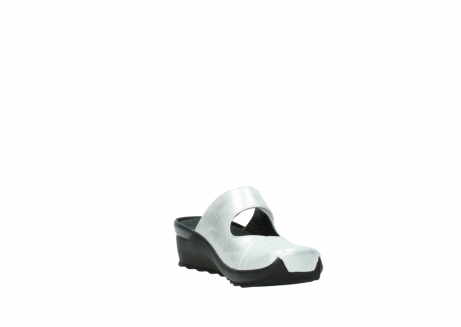 wolky clogs 02576 up 30130 silber leder_17