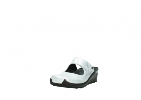 wolky clogs 02576 up 30130 silber leder_21