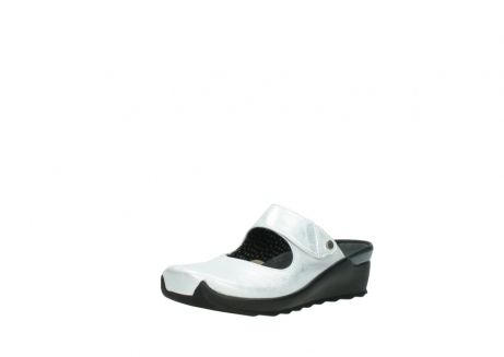 wolky clogs 02576 up 30130 silber leder_22