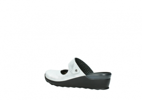 wolky clogs 02576 up 30130 silber leder_3