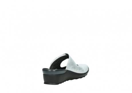 wolky clogs 02576 up 30130 silber leder_9
