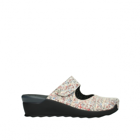 wolky clogs 02576 up 40912 offwhite multi suede