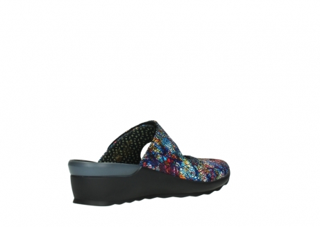wolky clogs 02576 up 40970 multi black metallic leather_10