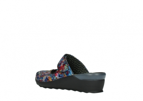 wolky clogs 02576 up 40970 multi black metallic leather_4