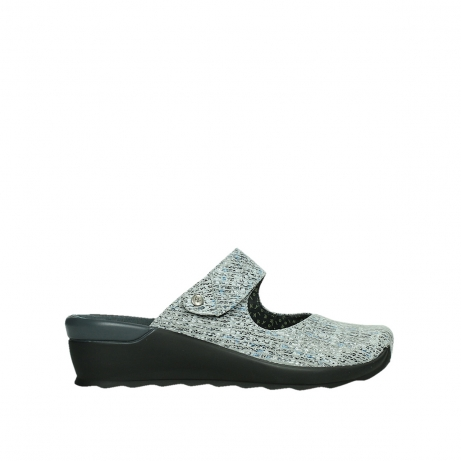 wolky clogs 02576 up 41920 grau multi suede