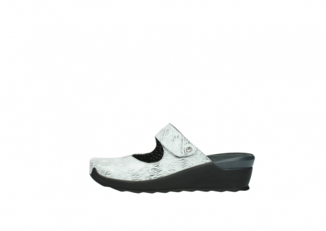 wolky clogs 02576 up 70110 white black canal leather_1