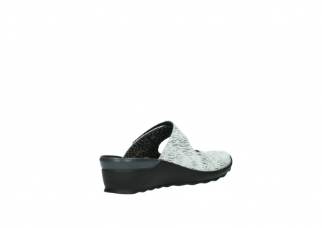 wolky clogs 02576 up 70110 white black canal leather_10