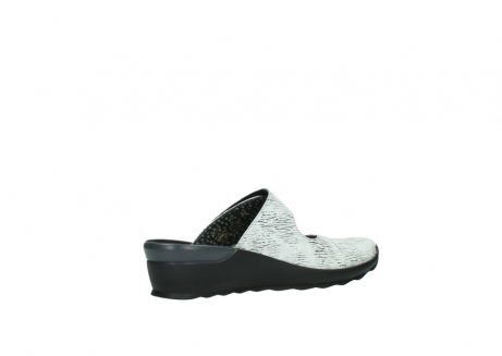 wolky clogs 02576 up 70110 white black canal leather_11