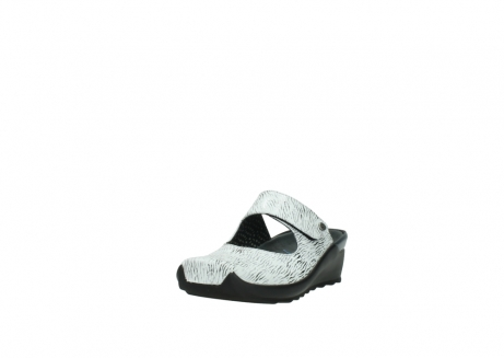 wolky clogs 02576 up 70110 white black canal leather_21