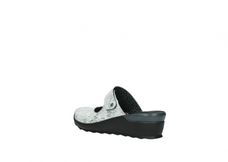 wolky clogs 02576 up 70110 white black canal leather_4