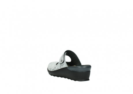 wolky clogs 02576 up 70110 white black canal leather_5