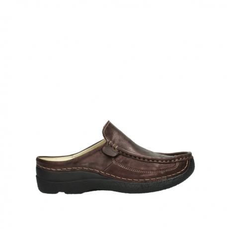 wolky clogs 06202 roll slide 10333 mocca metallic nubuk