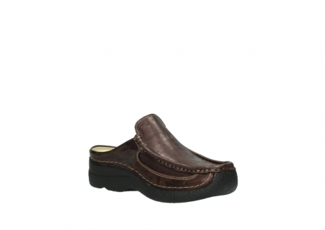 wolky clogs 06202 roll slide 10333 mocca metallic nubuk_16