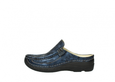 wolky clogs 06202 roll slide 10823 marineblau metallic nubuk_1