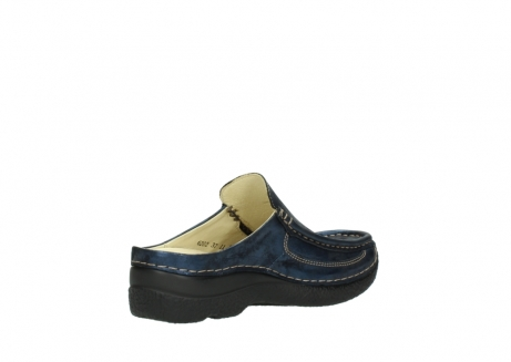 wolky clogs 06202 roll slide 10823 marineblau metallic nubuk_10