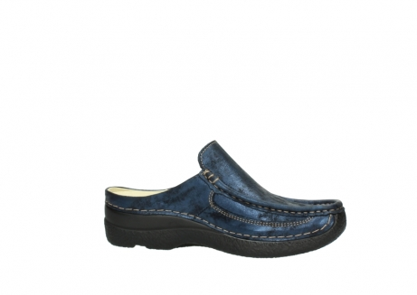 wolky clogs 06202 roll slide 10823 marineblau metallic nubuk_14