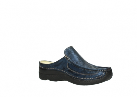 wolky clogs 06202 roll slide 10823 marineblau metallic nubuk_15