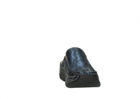 wolky clogs 06202 roll slide 10823 marineblau metallic nubuk_18