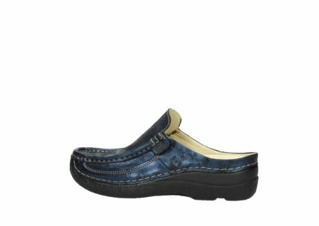 wolky clogs 06202 roll slide 10823 marineblau metallic nubuk_2