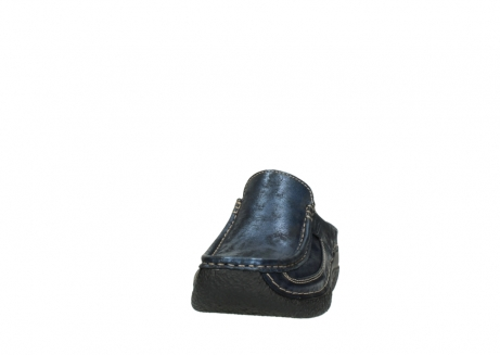 wolky clogs 06202 roll slide 10823 marineblau metallic nubuk_20