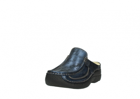 wolky clogs 06202 roll slide 10823 marineblau metallic nubuk_21