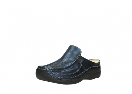 wolky clogs 06202 roll slide 10823 marineblau metallic nubuk_22
