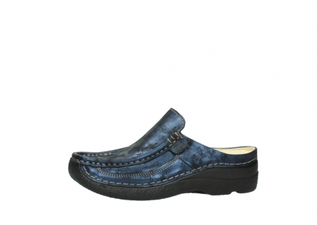 wolky clogs 06202 roll slide 10823 marineblau metallic nubuk_24