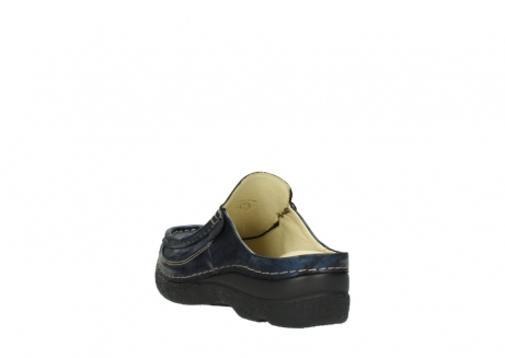 wolky clogs 06202 roll slide 10823 marineblau metallic nubuk_5