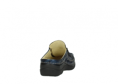 wolky clogs 06202 roll slide 10823 marineblau metallic nubuk_8