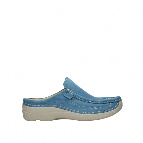 wolky clogs 06202 roll slide 11856 baltic blue nubuck