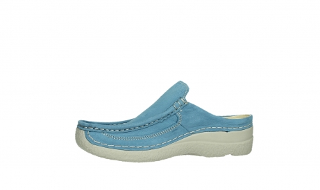 wolky clogs 06202 roll slide 11856 baltischblau nubuck_12