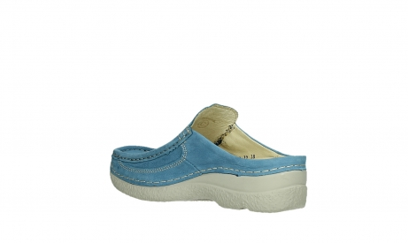 wolky clogs 06202 roll slide 11856 baltischblau nubuck_16