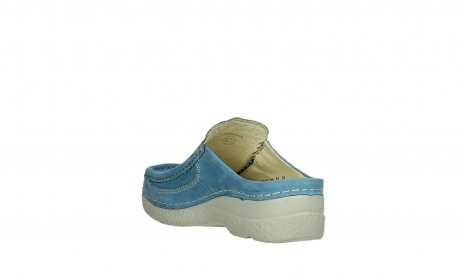 wolky clogs 06202 roll slide 11856 baltischblau nubuck_17