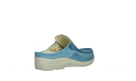 wolky clogs 06202 roll slide 11856 baltischblau nubuck_22
