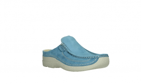 wolky clogs 06202 roll slide 11856 baltic blue nubuck_4