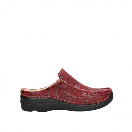 wolky clogs 06202 roll slide 12530 bordeaux leder