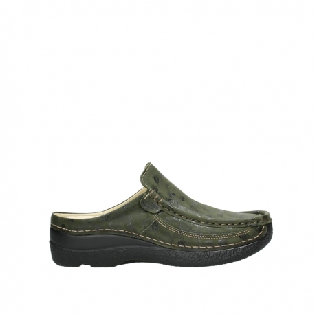 wolky clogs 06202 roll slide 12730 forestgreen nubuck