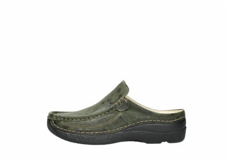 wolky clogs 06202 roll slide 12730 forestgreen nubuck_1