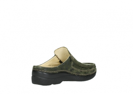 wolky clogs 06202 roll slide 12730 forestgreen nubuck_10