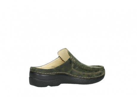 wolky clogs 06202 roll slide 12730 forestgreen nubuck_11