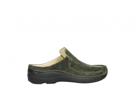 wolky clogs 06202 roll slide 12730 forestgreen nubuck_12