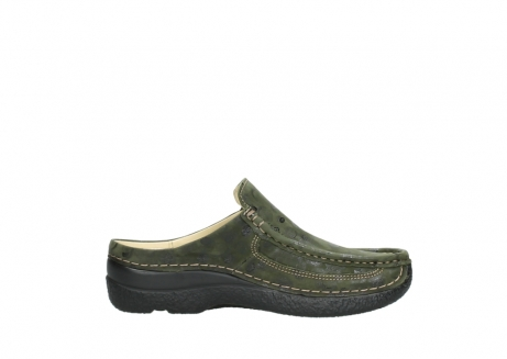 wolky clogs 06202 roll slide 12730 forestgreen nubuck_13