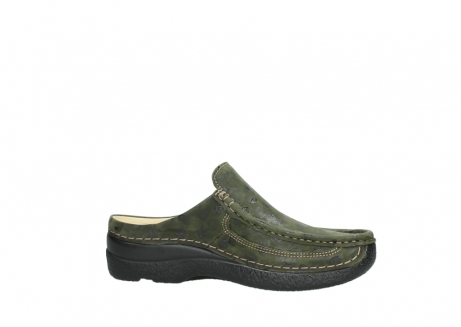 wolky clogs 06202 roll slide 12730 forestgreen nubuck_14