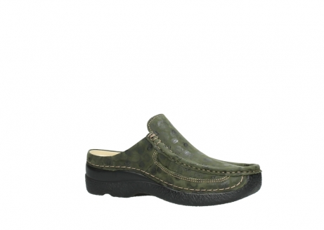 wolky clogs 06202 roll slide 12730 forestgreen nubuck_15