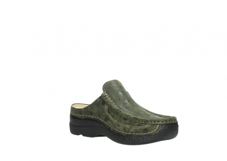 wolky clogs 06202 roll slide 12730 forestgreen nubuck_16