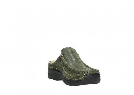 wolky clogs 06202 roll slide 12730 forestgreen nubuck_17