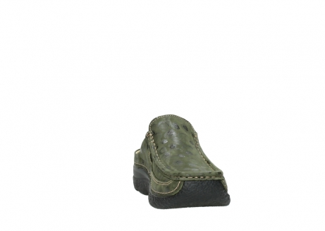 wolky clogs 06202 roll slide 12730 forestgreen nubuck_18