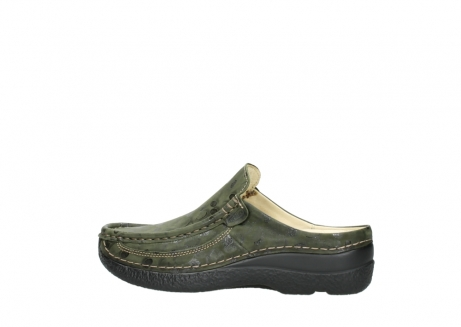 wolky clogs 06202 roll slide 12730 forestgreen nubuck_2