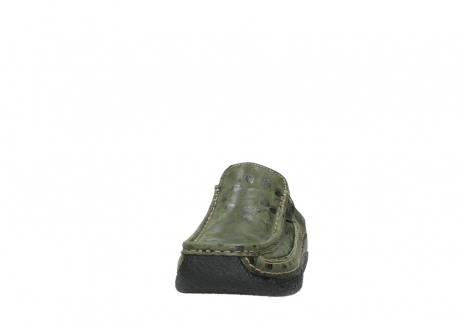 wolky clogs 06202 roll slide 12730 forestgreen nubuck_20