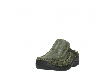 wolky clogs 06202 roll slide 12730 forestgreen nubuck_21